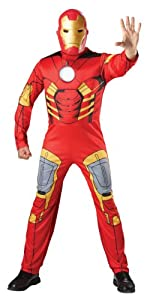 Mens Marvel Avengers Iron Man Tony Stark Fancy Dress Costume Standard One Size