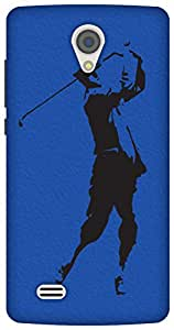 The Racoon Grip The Golfer hard plastic printed back case/cover for Vivo Y21
