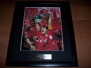 Steven Gerrard Signed Autograph Photo The European Cup Liverpool Fc