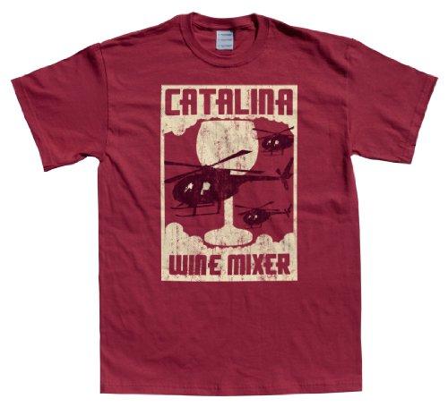 Rocket Factory Catalina Wine Mixer T-Shirt-Cardinal-Medium front-90809