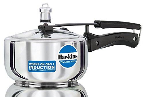 Hawkins B25 Stainless Steel Pressure Cooker, 2.0-Litre