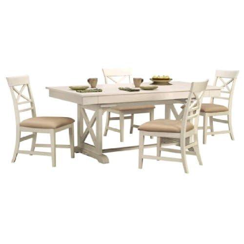 Amazon Com Plantation Cove 5 Pc White Dinette Table