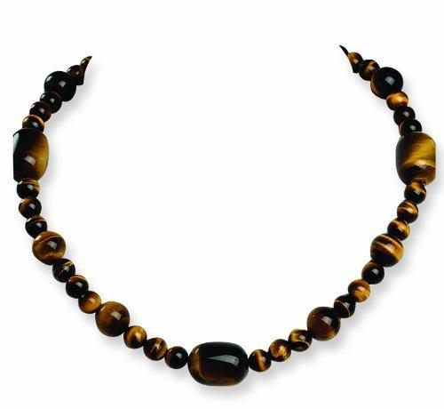 PriceRock Sterling Silver Tiger's Eye Necklace
