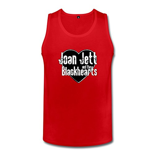 [JUJ Joan Jett & The Blackhearts Men's Tank Top T-shirt Red X-Large] (Joan Jett Wigs)