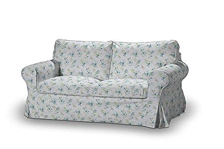 FRANC-TEXTIL 611-141-16 Ektorp 2-Plazas Sofá funda no plegable, sofá funda para 2-plazas Ektorp no plegable, Mirella, azul/gris
