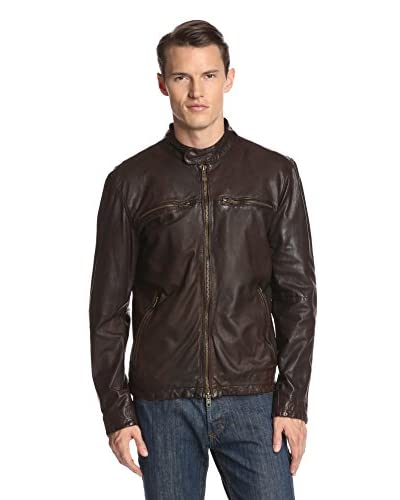 Vince Camuto Men's Lamb Leather Racer Jacket
