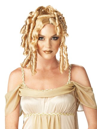 Goddess Wig Blonde Ringlet Wig Athena Costume Accessory