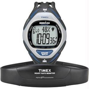 Timex Ironman Men's Race Trainer Heart Rate Monitor Watch Black/Blue Full Size