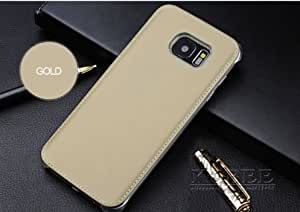 Premium vintage 100 % soft leather back case cover for samsung galaxy A7100/A7 2016-Gold
