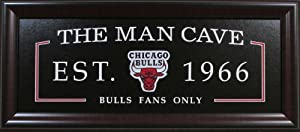 Man Cave Framed Sign Deluxe - Chicago Bulls by NBA_ManCave