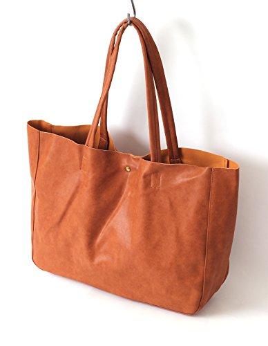 (リピード) REPIDO トートバッグ メンズ トート バッグ カバン 鞄 PUレザー 革 皮 無地 a4 大型 大容量 シンプル 無地 レディース ユニセックス キャメル Free