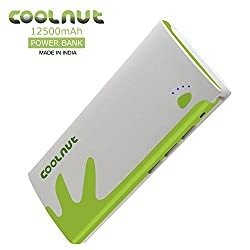 COOLNUT® Best Power Bank 12500mah for Smartphone (White & Green)