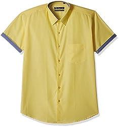 Hancock Men's Formal Shirt (9319Yellow_42)