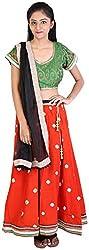 V-Attire Women's Cotton Lehenga Choli (VA-15, Red, Size: 34)