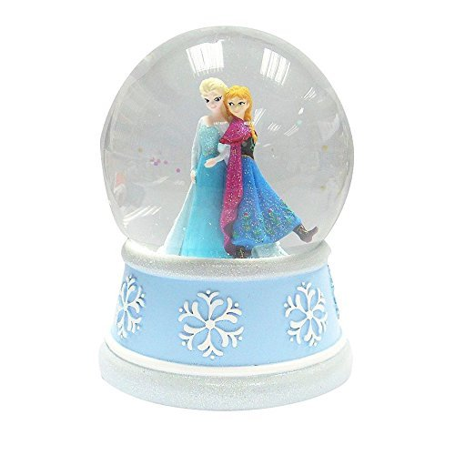 Anna and Elsa Music Box Snow Globe Gift for People Who Love Frozen