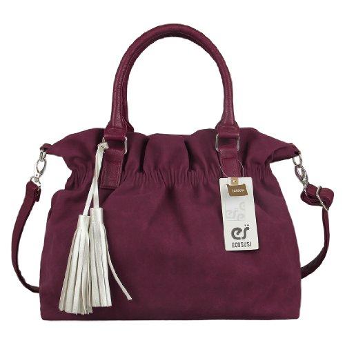 ecosusi-donne-morbido-tessuto-scamosciato-tote-handbag-hobo-bag-satchel-con-argento-nappa-vino-rosso