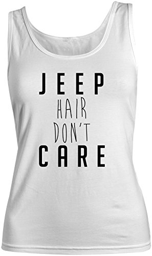 Jeep Hair Don't Care Donna Tank Top Canotta Bianca Small