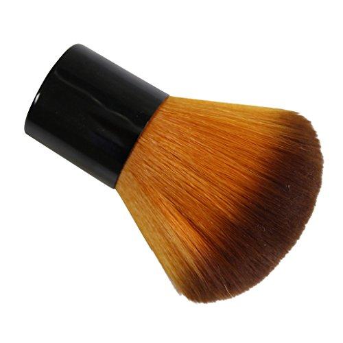 KurtzyTM Pennello per Makeup Professionale, Compatto e Soffice per l'Applicazione di Cipria, Fard, Bronzer