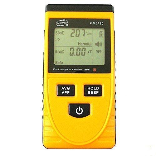 Malxs GM3120 Ecran LCD Electromagnétique Détecteur de Rayonnement EMF Testeur la Détection du Champ Electrique, Champ Magnétique