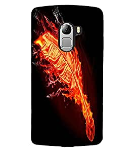 ColourCraft Flaming Feather Design Back Case Cover for LENOVO VIBE X3 LITE