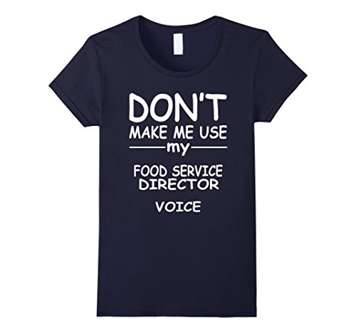 Women's FOOD SERVICE DIRECTOR T-Shirt, I love my Job Medium Navy (Food Service Clothing compare prices)