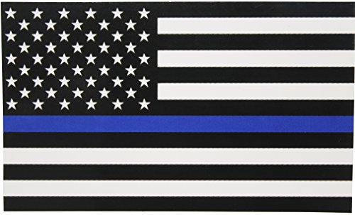 Thin-Blue-Line-Flag-Decal-3x5-in-Black-White-and-Blue-American-Flag-Sticker-for-Cars-and-Trucks-In-Support-of-Police-and-Law-Enforcement-Officers