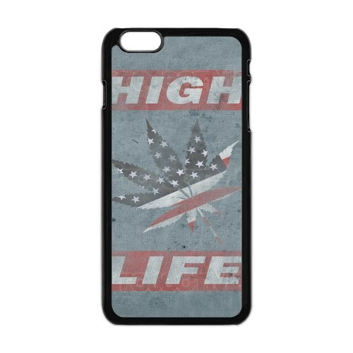 Generic Mobile Phone Cases Cover For Apple Iphone 6 Plus Case 5.5 Inch Case Country American Flag Marijuana Cannabis Weed Hemp Leaf Smoker Design Custom Made Hard Snap On Cell Phones Shell Protect Skin