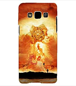 ColourCraft Lion Look Design Back Case Cover for SAMSUNG GALAXY A3