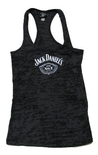 Jack Daniels Old No 7 Logo Donna Burnout Canotta Black S
