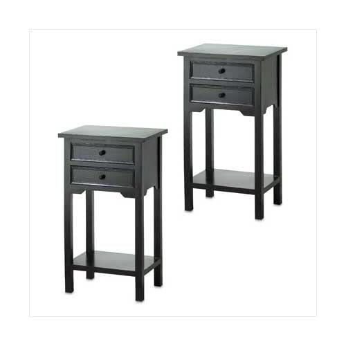 Amazon.com - Black Side Table Pair - End Tables