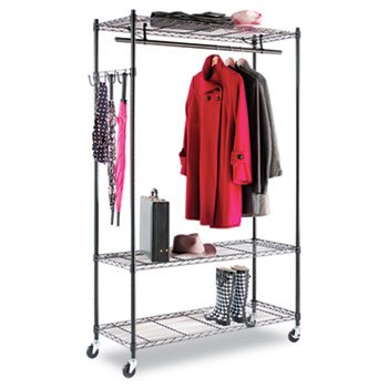 Alera Wire Shelving Garment Rack (Black) (Wire Shelving And Garment Rack compare prices)