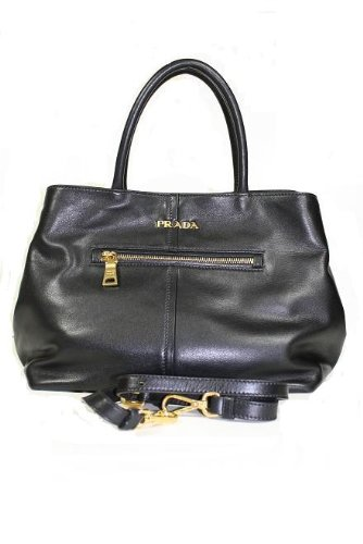 Prada Handbags Black Soft Calf Leather BN1832