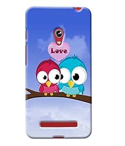 Fuson Love Birds Back Case Cover for ASUS ZENFONE 5 A501CG - D4035
