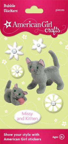 American Girl Crafts Bubble Stickers, Missy and Kitten