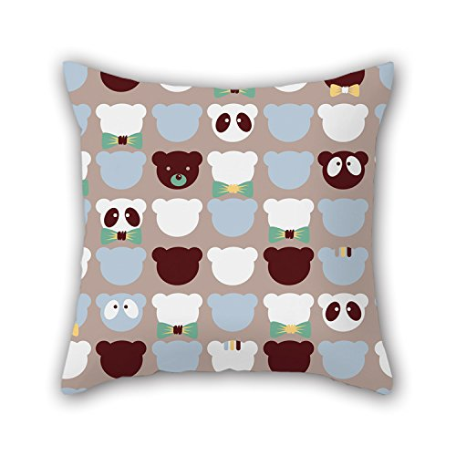 NICEPLW Throw Cushion Covers Of Bear 16 X 16 Inches / 40 By 40 Cm,best Fit For Monther,car Seat,adults,bedroom,lover,couples Twin