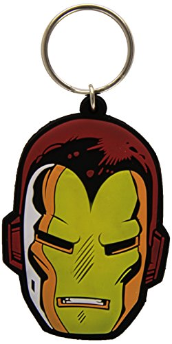 Iron Man Rubber Portachiavi Face 6 Cm Pyramid International