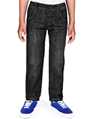 Adjustable Waist Regular Fit Jeans