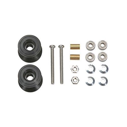 ミニ四駆特別企画商品 2段アルミローラーセット (13-12mm) ブラック 95231