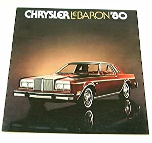 1980 80 Chrysler LeBARON BROCHURE Medallion Salon