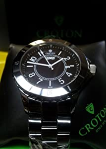 Croton Men's Xanthian Collection Quartz Ceramic Bracelet Watch