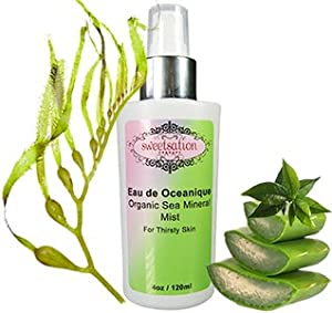 Eau de Oceanique Organic Sea Mineral mist for Thirsty skin, 4oz from Sweetsation Therapy
