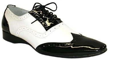 chaussures italiennes noires et blanches italian sandals. Black Bedroom Furniture Sets. Home Design Ideas