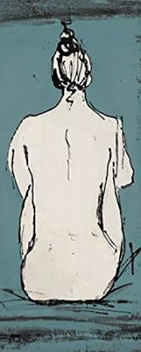 Nude Sketch on Blue II Poster Print by Patricia Pinto (24 x 48)
