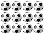 12 Black and White Engraved Soccer Fo...