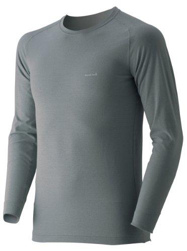 (モンベル)mont-bell ジオライン M.W.ラウンドネックシャツ Men's 1107525 GY グレー XL