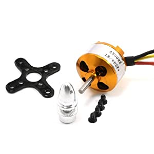 2600KV Rotating Speed Brushless Outrunner Motor for RC Aircraft by Amico