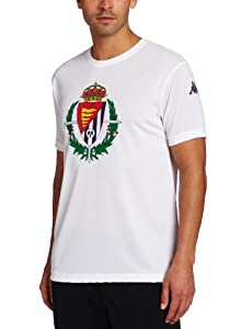 Kappa Men's Real Valladolid Poly T-Shirt, White, Large
