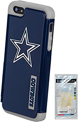 Forever Collectibles - (NFL) - Dallas Cowboys Dual Hybrid 2-Piece TPU Case And Screen Guard for Apple iPhone 5/5s