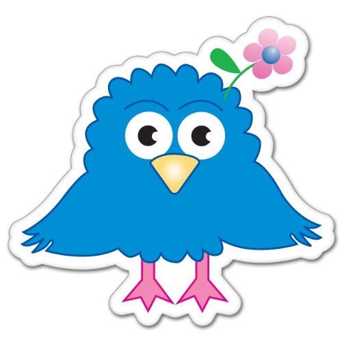 "Amazon.com : Noggin Zee D. Bird cartoon sticker decal 4"" x 4"" : Other"