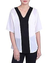 Iande white-black color georgette top